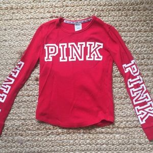 Victoria's Secret PINK ribbed long sleeve shirt